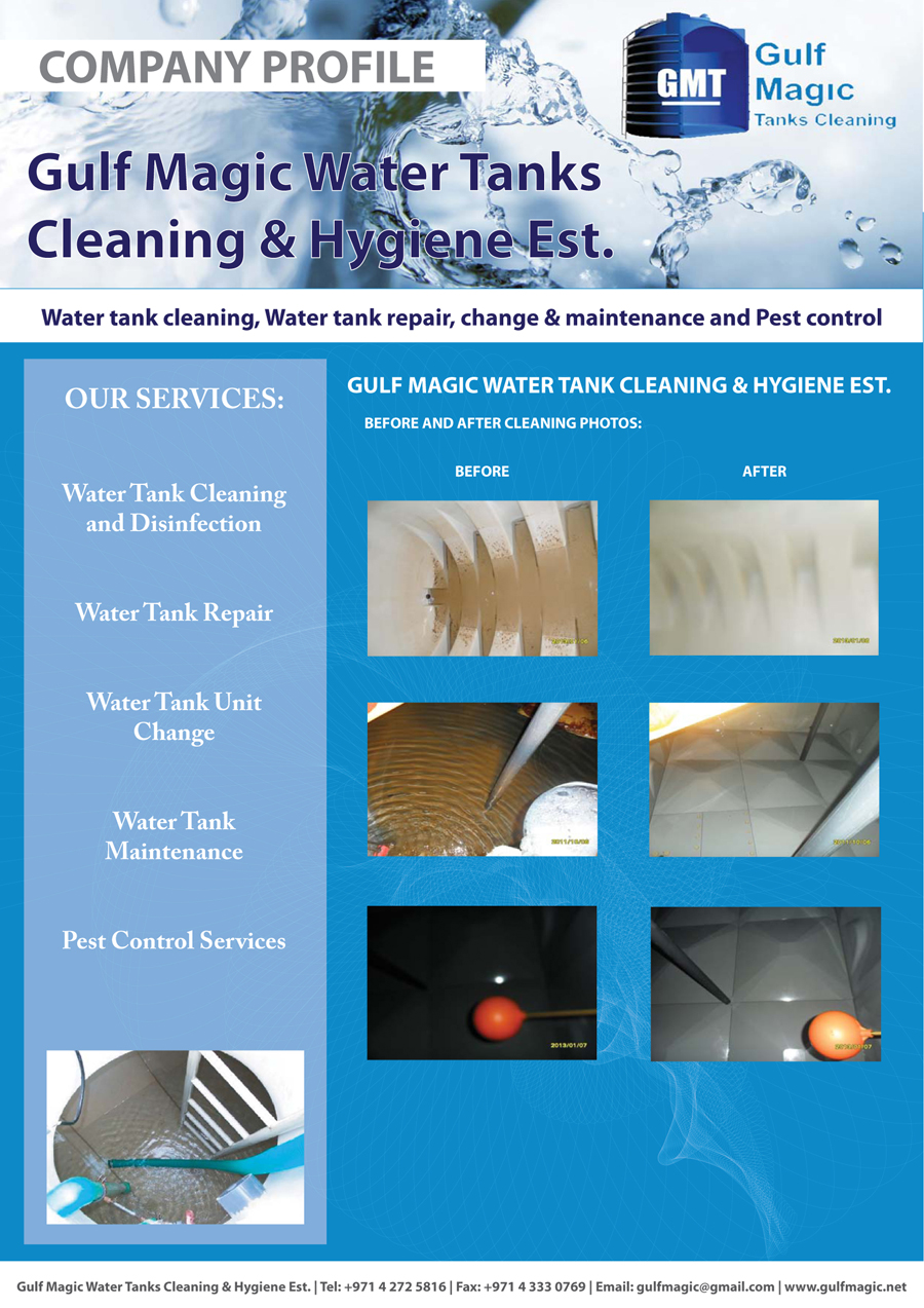 Water Tank Magic : Gulf magic water tanks cleaning and disinfecting uae